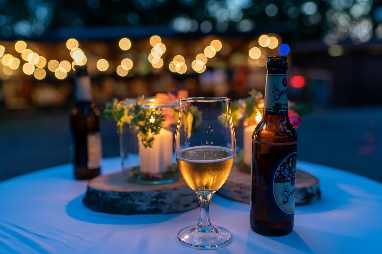 bier, tisch, glas